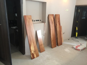 Wandboard aus Birnenholz